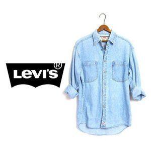 Vintage Levi's Red Tab Denim Shirt - XL